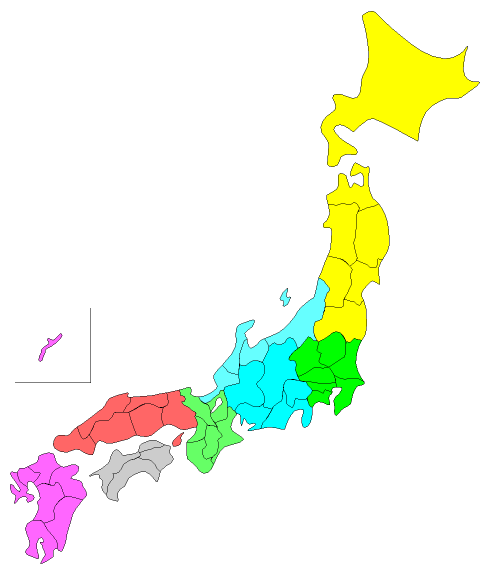 ちずそ無料地図素材 日本白地図