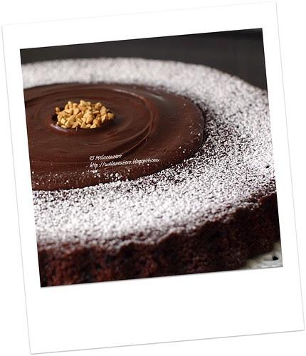 torta al triplo cioccolato (fondente, cacao e gocce)