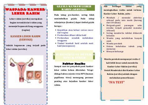 leaflet kanker leher rahim