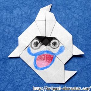 折り紙 妖怪ウォッチウィスパーの折り方 キャラクター折り紙com