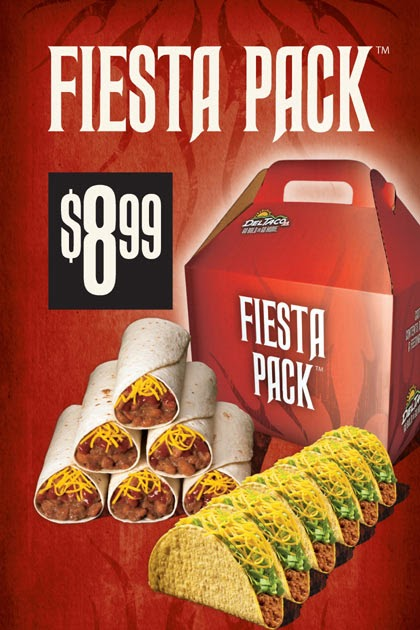 Del Taco Classic Combo Deal and Fiesta Pack
