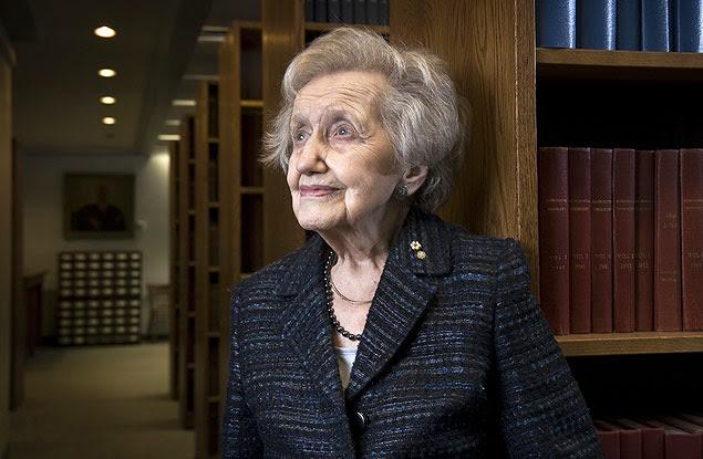 A neuropsicóloga Brenda Milner, 94, em Montreal, no início deste ano
