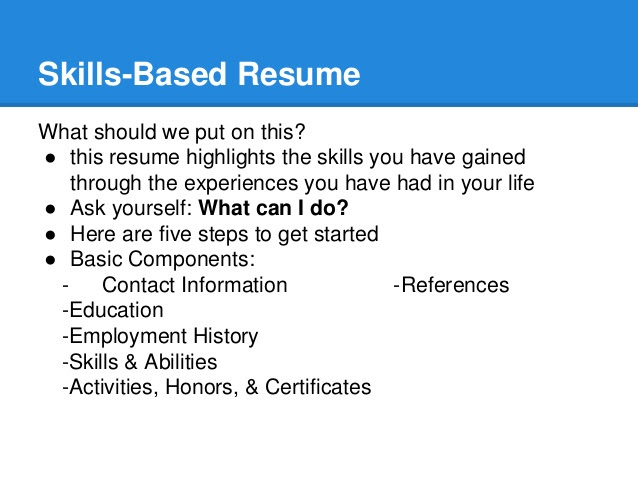 Resume  SkillBuilding Workshop