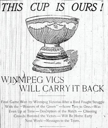 1901 Winnipeg Victorias article, 1901 Winnipeg Victorias article