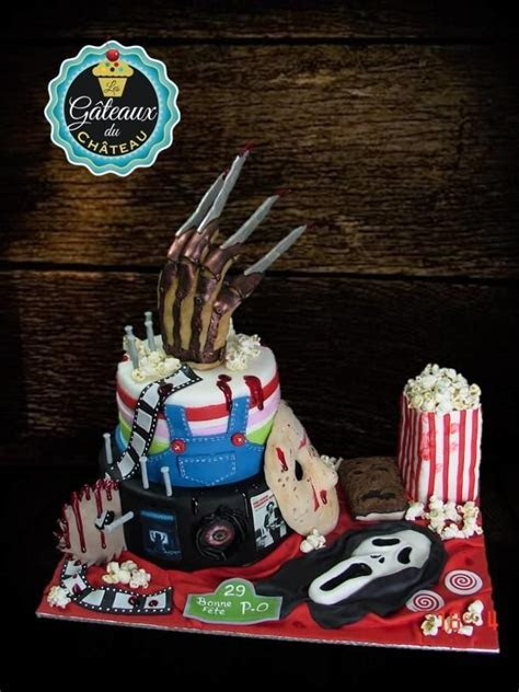 Horror movie birthday cake   Cake by Les Gâteaux du