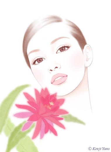 綺麗な女性イラスト 人物イラスト 油野健二イラストレーション Orchid