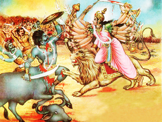 Battle of the Ego: Goddess Durga and Mahishasura