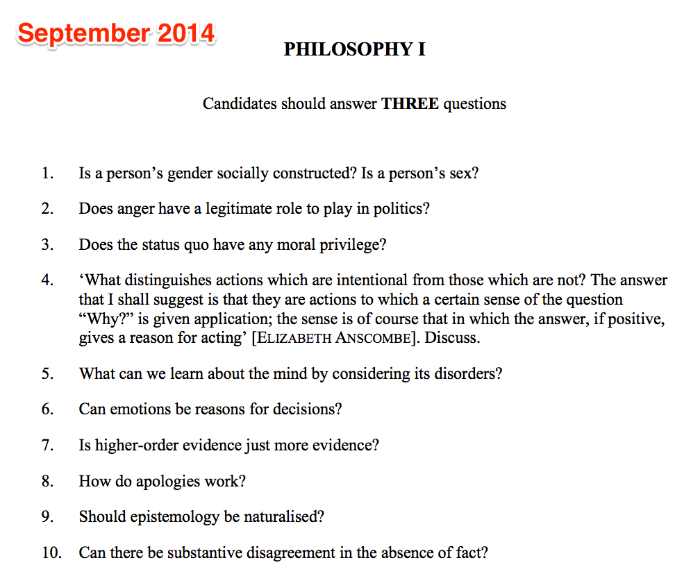 How to answer the All Souls examination at Oxford ...
