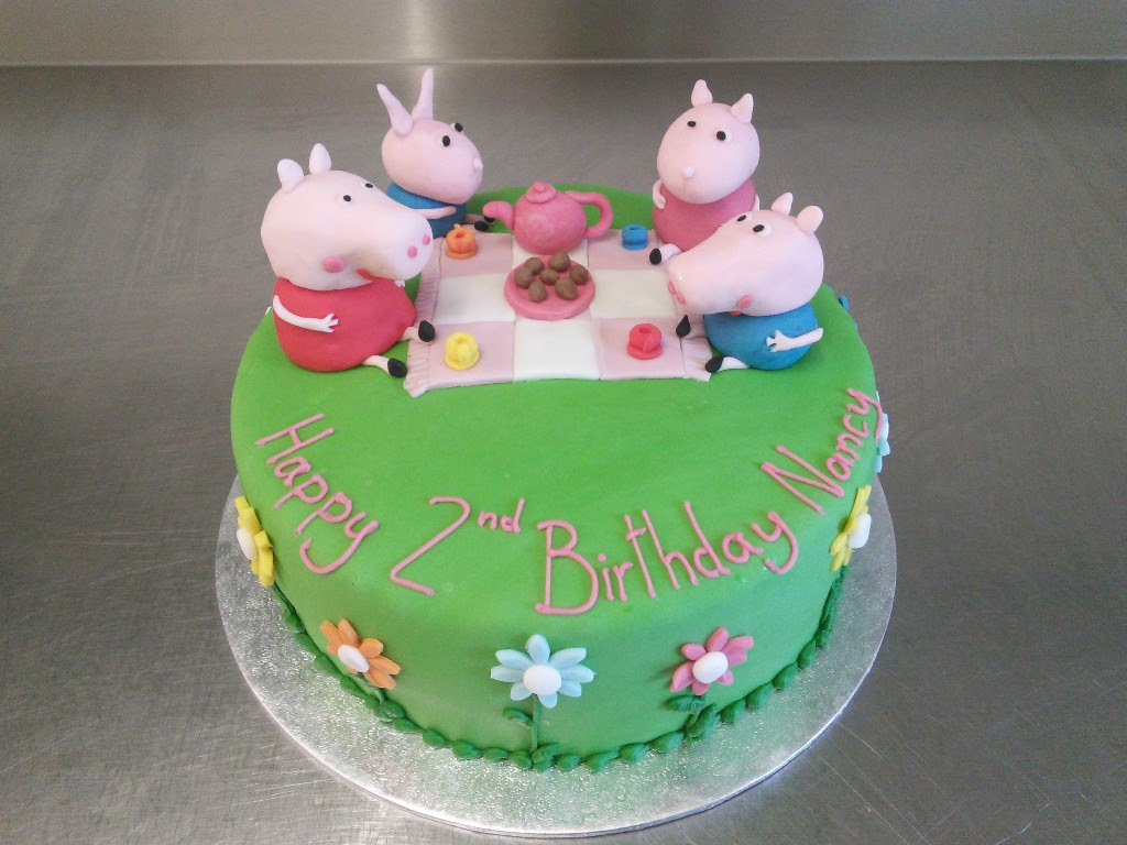 Peppa Pig Tea Party 2nd Birthday Cake Crumbs Cake Shop Sheffield
