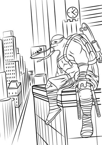 Dibujo De Tortugas Ninja 2 Fuera De Las Sombras Para Colorear