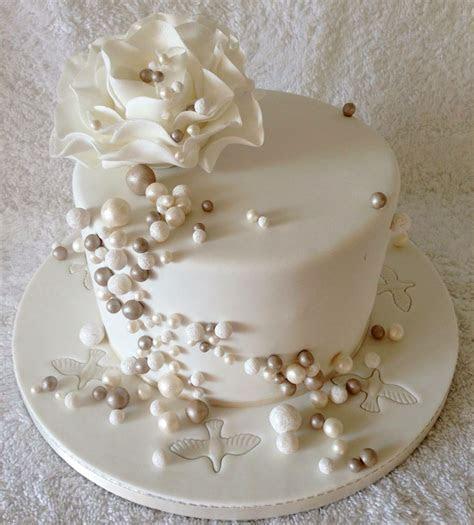 Pearl Wedding Anniversary Cake   Pearl Anniversary Cakes