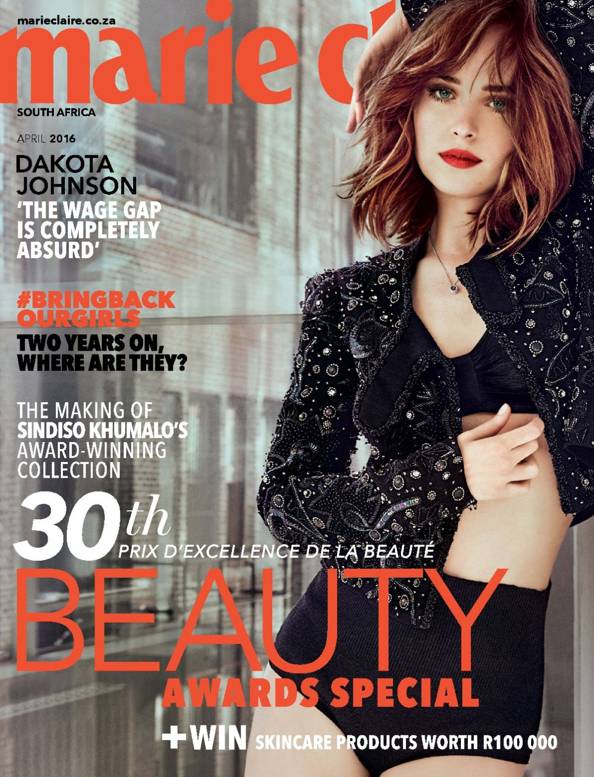 DAKOTA HOHNSON in Marie Claire Magazine, South Africa April 2016 Issue