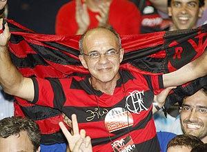 O presidente rubro-negro Eduardo Bandeira de Mello
