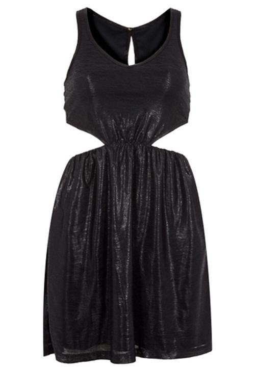 Vestido Petit Vazados Preto