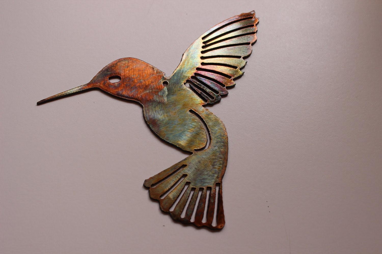 Hummingbird Metal Wall Art Decor by HEAVENSGATEMETALWORK ...