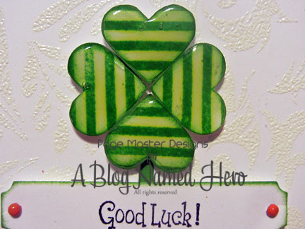 good luck heart clover