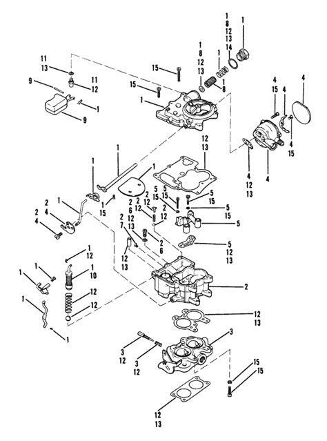 Carburetor (Rochester) for Mercruiser (120 HP / 2.5l140 HP
