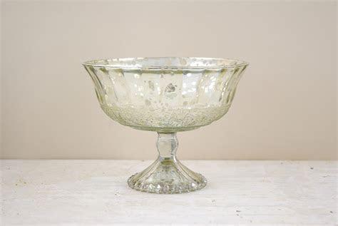 Silver Mercury Glass Compote 7x5