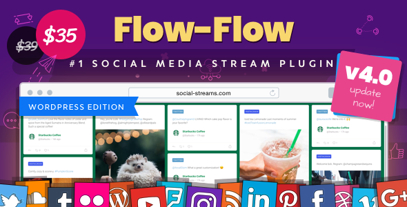 Flow-Flow v4.0.3 - WordPress Social Stream Plugin
