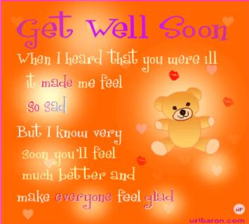 When I Heard That You Were Ill It Made Me Feel So Sad Get Well