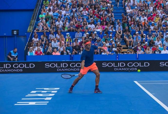 Roger Federer treino copa hopman 6 mil pessoas austrália (Foto: Divulgação/Hopman Cup)