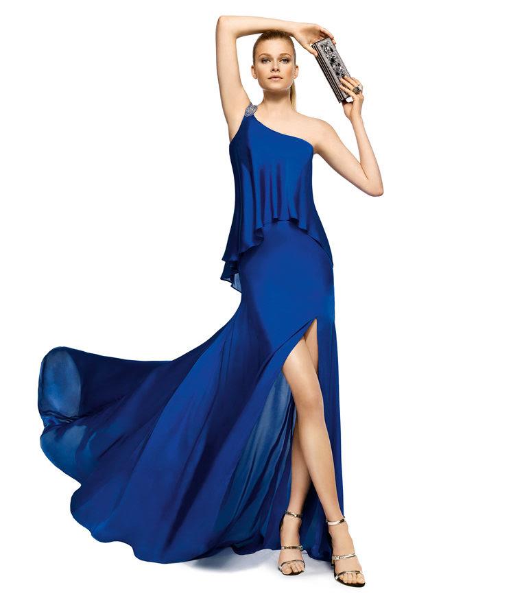 Charming A-line One Shoulder Beading Side Slit Floor-length Chiffon Cocktail Dresses_1