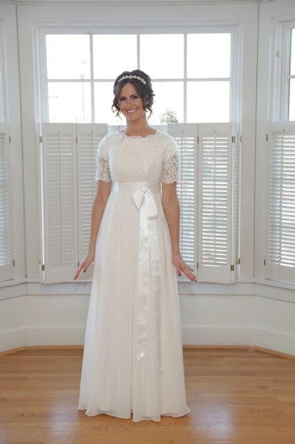 Modest Chiffon Wedding Dress