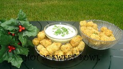 Fried Okra With Scallion Dip
