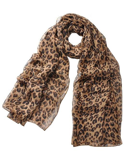 Premium Soft Chiffon Scarf - Leopard Animal Print