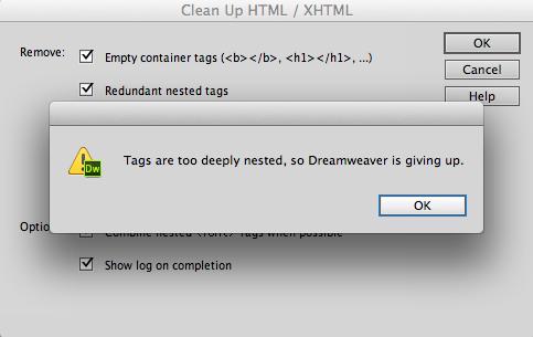 Gee Thanks For Nothing Dreamweaver Webdesign