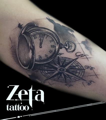 Brujula Y Reloj Tatuajes Online