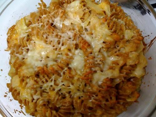 Garlic mac and cheese!