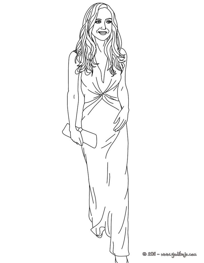 Dibujos Para Colorear Vestido De Novia De La Princesa Kate Middleton
