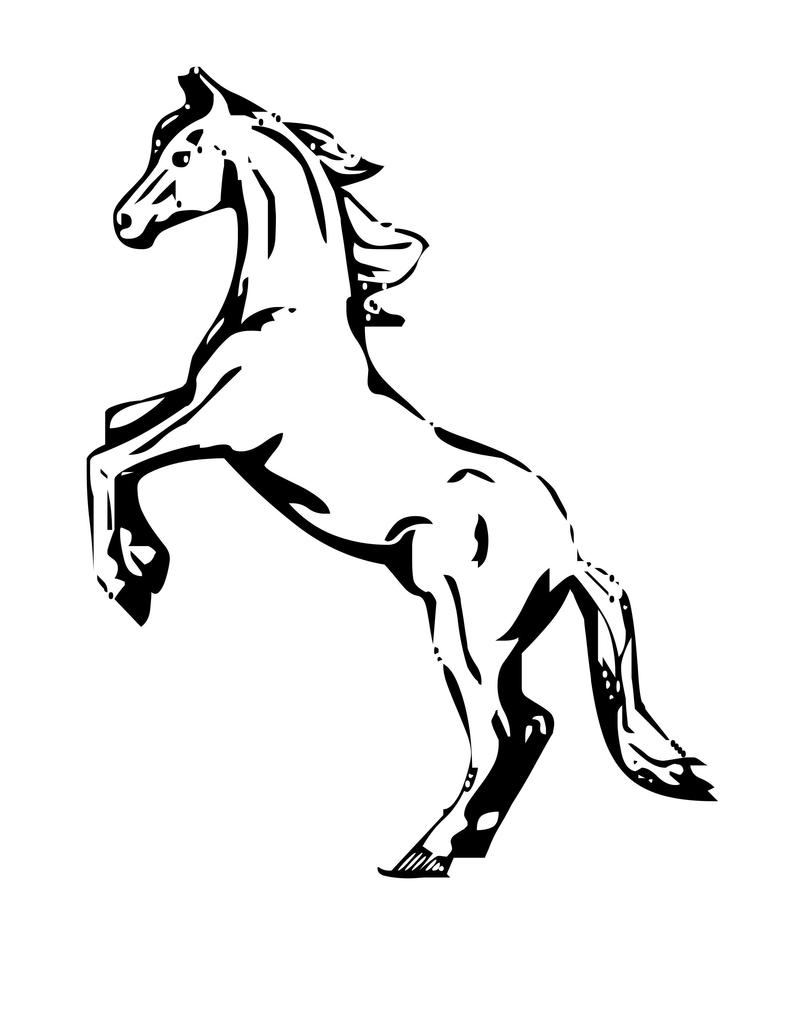 Coloriage gratuit de cheval a imprimer