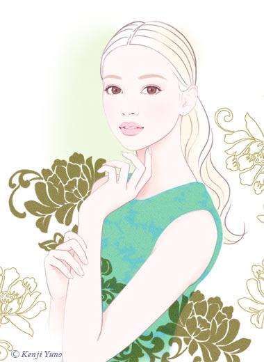 美しい女性イラスト きれいな女性イラスト 人物イラスト 油野健二