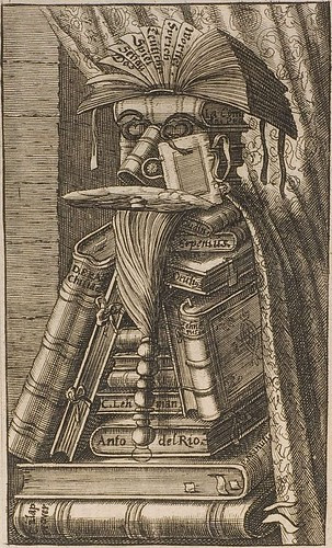 1640s version of Arcimboldo's The Librarian