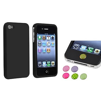 DEALS Insten 738008 2-Piece iPhone Case Bundle For Apple iPhone 4/4S, Apple iPhone/iPad/iPod Touch NOW