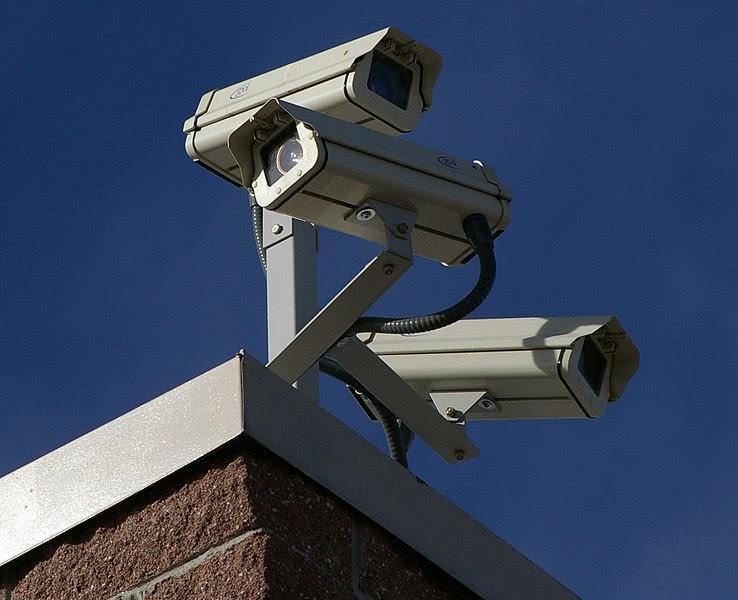 File:Three Surveillance cameras.jpg