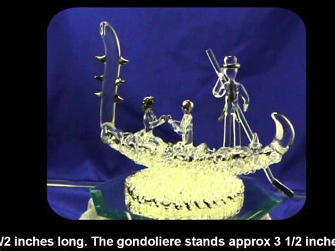Gondola Wedding Cake Topper   YouTube