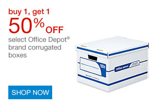 B1G1 50% off select Office Depot® brand corrugated boxes | SHOP NOW
