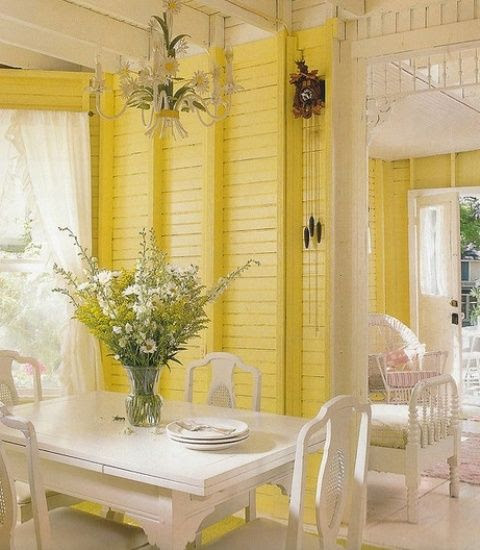 Cool Yellow Dipped Room