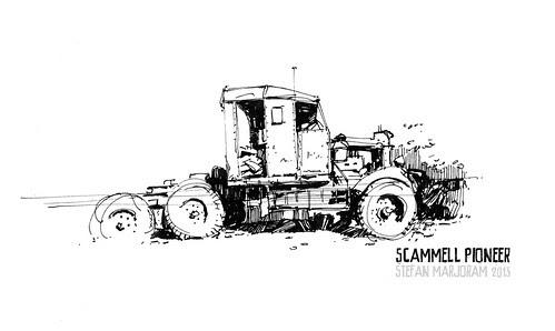 Scammell Pioneer -  ink by Stefan Marjoram