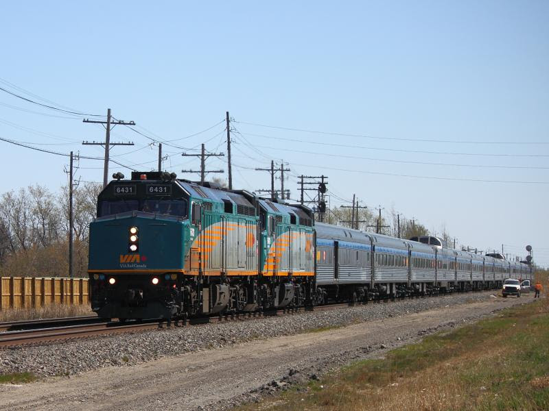 VIA 6431 in Winnipeg, by Steve Boyko