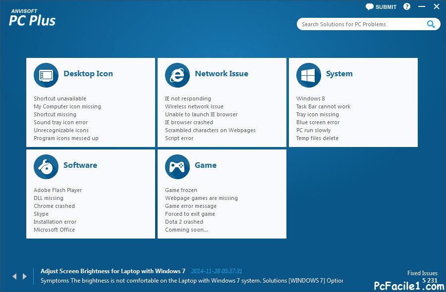 برنامج pc plus لاصلاح اخطاء ومشاكل الويندوز والانترنت والبرامج