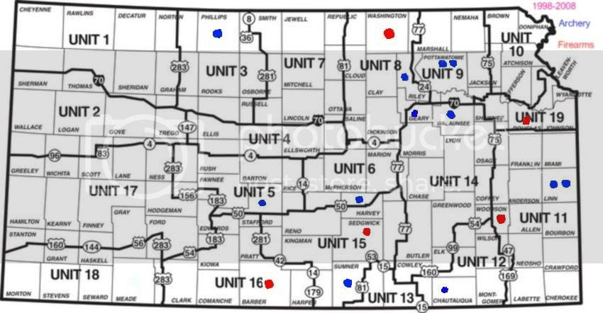 Kansas Deer Unit Map Kansas Deer Unit Map | Color 2018