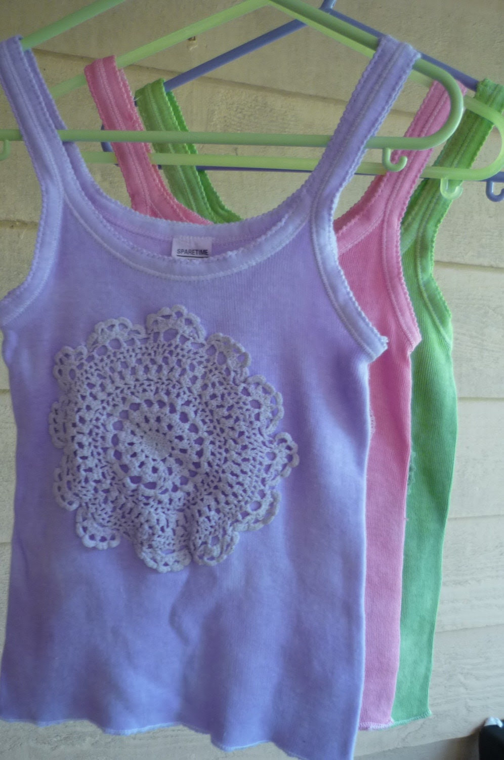 Pastel Hand-dyed tank tops
