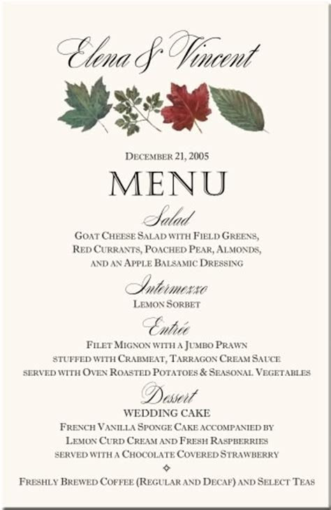 Winter Holiday Wedding Pine Bough Wedding Programs Table