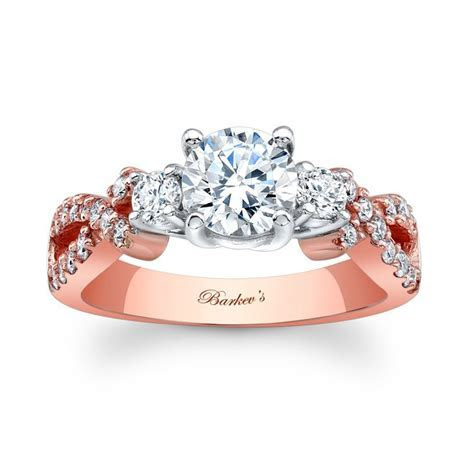 Barkev's Rose Gold Engagement Ring 7682LP   Barkev's