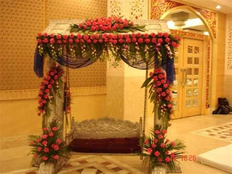 Indian wedding jhula ( swing ) for mehandi or haldi