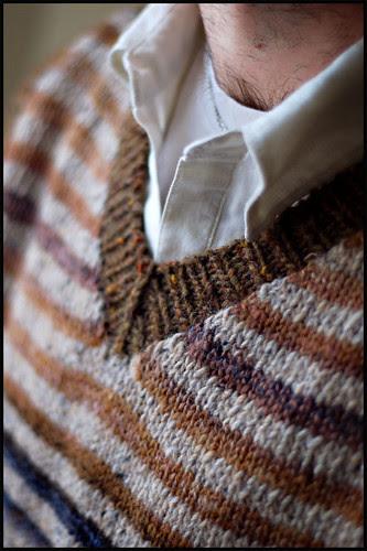 Striped Vest Collar Detail (by b r o o k l y n t w e e d)